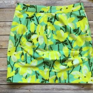 J. Crew Dresses - J Crew • Lemon Lime Mini Skirt